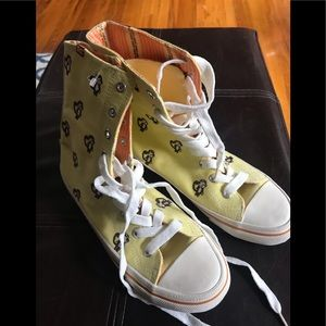 BC Footwear Shoes - BC Kitschy Yellow Monkey Hightop Sneakers